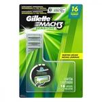 Carga para Aparelho de Barbear Gillette Mach 3 Sensitive para Peles Sensíveis 16 Unidades