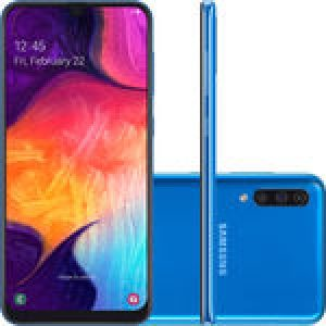 "Smartphone Samsung Galaxy A50 128GB Dual Chip Android 9.0 Tela 6,4"" Octa-Core 4G Câmera Tripla 25MP+5MP+8MP - Azul"