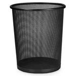 Lixeira Telada Redonda de Aço de Lixo Preta para Escritorio Cesto (BSL-34008-1)