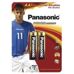 Pilha Alcalina AA2 Panasonic Pequena - 2 Unidades
