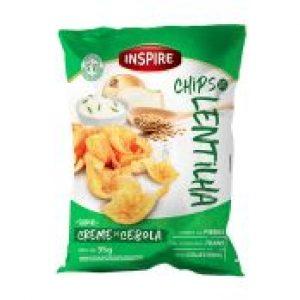 Chips de lentilha creme de cebola  35g - Inspire