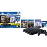Console Ps4 1TB + 3 Jogos + Voucher Fortnite + Controle DualShock 4 Bundle Hits 6 - Sony