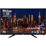 "Smart TV LED 32"" Philco PH32B51DSGWA HD com Conversor Digital 2 HDMI 2 USB Wi-Fi Android - Preta"