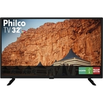 "TV LED 32"" Philco PTV32G50D HD com Conversor e Receptor Digital 2 HDMI 1 USB - Preto"