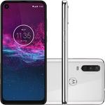 "Smartphone Motorola One Action 128GB Dual Android Pie 9.0 Tela 6.3"" Exynos 9609 (S925) 4G Câmera 12+5+16MP (Quad Pixe) - Branco Polar"