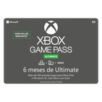 Gift Card Digital Xbox Game Pass Ultimate 6 meses
