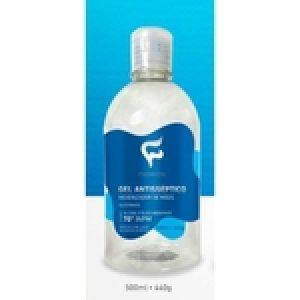 Álcool em gel 70% Anticéptico 500 ML - KIT COM 3 UNIDADES