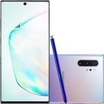 "Smartphone Samsung Galaxy Note 10+ 256GB Dual Chip Android 9.0 Tela 6.8"" Octa-Core 4G Câmera 12MP + 16MP (Ultra Wide) + 12MP + Tof (Scanner 3D) - Prata"