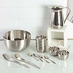 Conjunto de Jarra + Saladeira + Sobremesa Inox 16 peças - La Cuisine