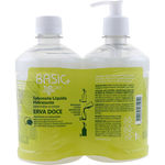 Sabonete Líquido Hidratante Basic+ Care Erva Doce 500ml+Refil