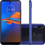 "Smartphone Motorola Moto E6 Plus 64GB Dual Chip Android Pie - 9.0 Tela 6.1"" Helio P22 4G Câmera 13Mp + 2MP -  Azul Netuno"