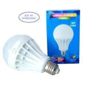 Lâmpada Bulbo Led 5W Kit 10 unidades Branco Frio 110V E27 - Arco Íris Led