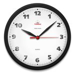 Relógio De Parede Redondo Omega Preto Classico