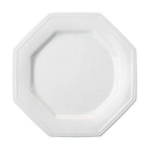Prato Raso 28cm Linha Prisma Branco Porcelana Schmidt