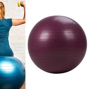 Bola Suíça para Pilates 65 cm Domyos - *GYM BALL 65CM ANTIBURST BORDO, NO SIZE