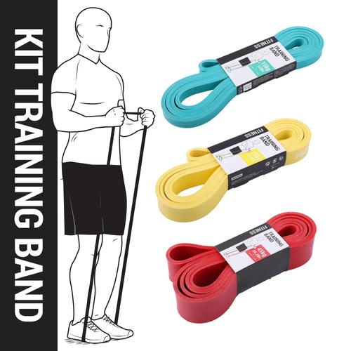 Kit Training Band - Progressivo - Conjunto com 03 SuperBands de 15kg, 25kg e 45kg da Domyos