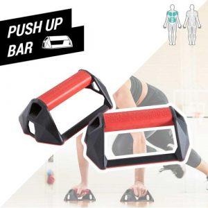 Apoio para Flexões Push Up Bar - PUSH UP BARS, PRETO/VERMELHO, TAM. ÚNICO, PRODUÇÃO NACIONAL (BR)