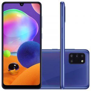 Smartphone Samsung Galaxy A31 Azul Dual Chip Câmera Quádrupla Tela In