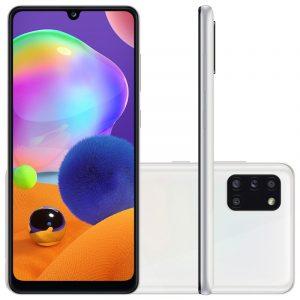 Smartphone Samsung Galaxy A31 Branco Dual Chip Câmera Quádrupla Tela