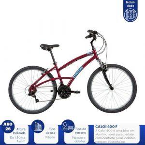 Bicicleta Aro 26 Caloi 400 Comfort - *caloi 400 vinho 2020