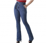 Calça Flare, Sawary Jeans, Feminino