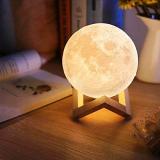 Luminaria 3D Touch Lua Cheia Abajur por R$ 54,90